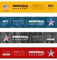 memorial day banner set vector image
