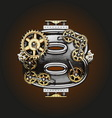 8 letter with gears vector image