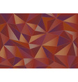 Abstract red triangles 3d background vector image