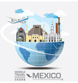 Meico Landmark Global Travel And Journey vector image