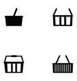 basket icon set vector image