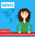 breaking newstv screen layout vector image