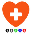 cardiology flat icon vector image