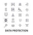 data protection online security hacker safety vector image