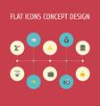 flat icons money box verdict teller machine and vector image