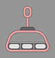 icon in flat design cabin ski lift vector image