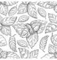 Mint leaf pattern Peppermint leaves sketch vector image