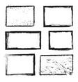 Rough grunge distressed ink image border vector image