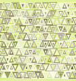 seamless geometric pattern of triangles vector image
