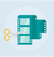 Video editing flat icon vector image