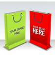 Digital empty green and red shopping vector image