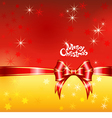 greeting card with Christmas ribbons and bows vector image vector image
