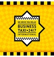 Taxi symbol with checkered background - 13 vector image vector image