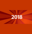 2018 new year resolution and target red revolution vector image