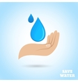 Hands water protect poster vector image