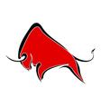 Red wild buffalo vector image vector image