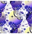 Pattern with moon succulents and butterflies vector image