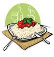 Spaghetti with tomato sauce vector image