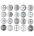 gears collection vector image vector image