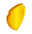 Gold shield icon in isometric 3d style vector image vector image