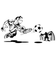 Player scores a goal vector image