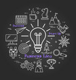 chalk board - business idea vector image