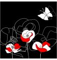 colorful flowers on black vector image