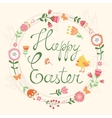 Easter card with wreath vector image