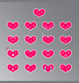 emoticons heart color 18 vector image