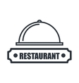 menu restaurant isolated icon design vector image