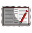notebook with pencil school supply icon vector image