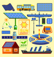 solar energy set vector image
