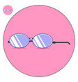 Sunglasses flat logo and icon vector image