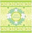 yoga lifestyle card vector image