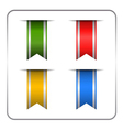 Silver colored bookmark banners vector image