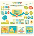 Set of Happy Easter ornaments vector image