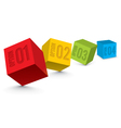 Dimensional Business Blocks vector image