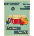 Confectionery Retro Design vector image