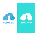 arrow up and cloud logo combination vector image