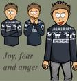 Boy emotion kid laugh people person vector image