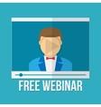 Online education concept Webinar vector image