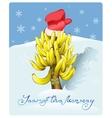 Christmas tree made of bananas vector image
