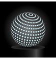 Abstract light sphere vector image