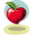 a heart-shaped apple as symbol of health vector image