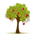 Apple Tree Isolated on a White Background vector image