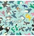 Crazy marine life seamless pattern vector image