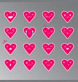 emoticons heart color 19 vector image
