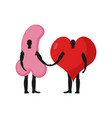 penis and heart friends friendship love and sex vector image