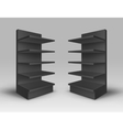 Set of Exhibition Trade Stands Racks with Shelves vector image