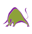 Symbol strong wild bull vector image